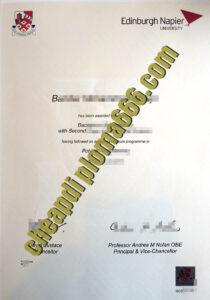 buy Edinburgh Napier University degree certificate