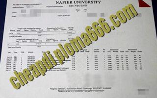 buy Edinburgh Napier University transcript