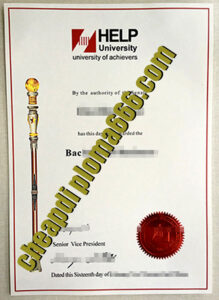 buy HELP University degree certificate