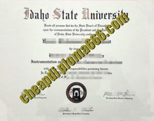 buy Idaho State University degree certificate