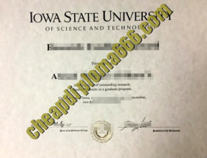 fake Iowa State University diploma