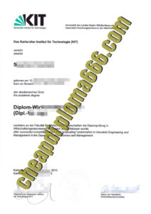 Karlsruhe Institute of Technology degree certificate