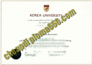 buy Korea University degree certificate
