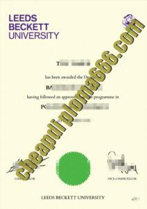 buy Leeds Beckett University degree certificate