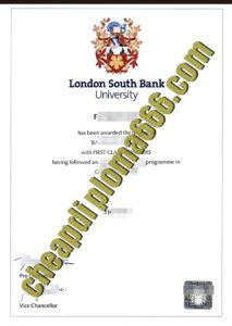 buy London South Bank University degree certificate