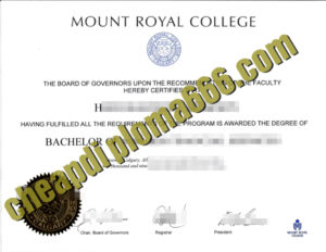 buy Mount Royal College degree certificate