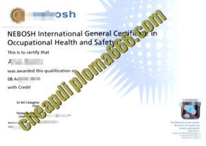 buy NEBOSH International degree certificate