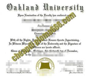 buy Oakland University diploma