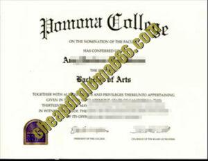 buy Pomona College degree