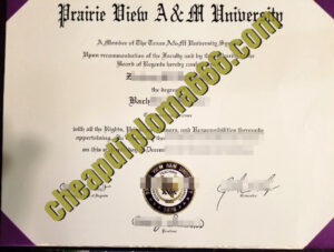 buy Prairie View A&M University degree certificate