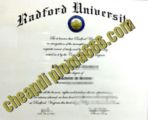 buy Radford University degree certificate