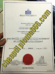 buy SEGi University degree certificate