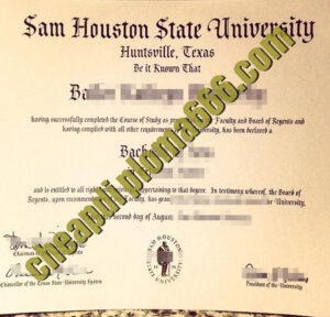 buy Sam Houston State University degree certificate