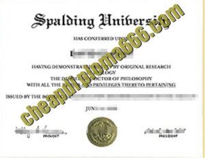 buy Spalding University degree certificate