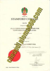buy Stamford College degree certificate