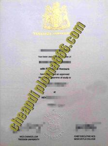 buy Teesside University degree certificate