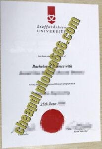 buy Staffordshire University degree certificate