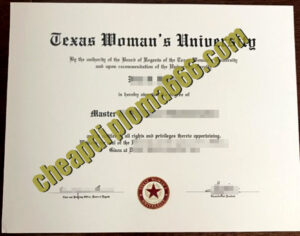 buy Texas Woman's University degree certificate