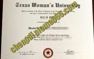 buy Texas Woman's University degree certificate
