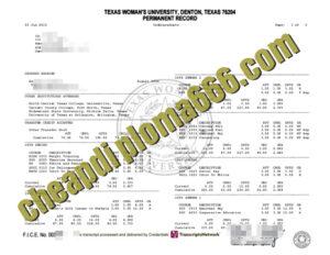 buy Texas Woman's University transcript