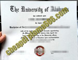 fake University of Alabama degree