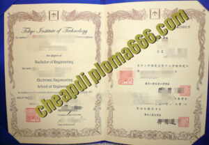 Tokyo Institute of Technology diploma