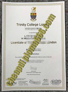 Trinity College London degree certificate