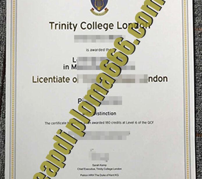 Trinity College London degree certificate
