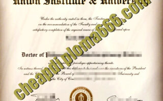 Union Institute & University degree certificate