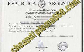 Universidad de Buenos Aires degree