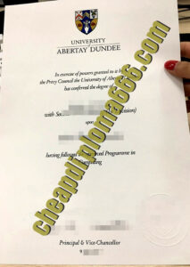 buy University of Abertay degree certificate