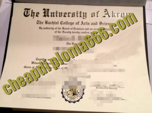 buy University of Akron degree certificate