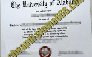 buy University of Alabama degree certificate