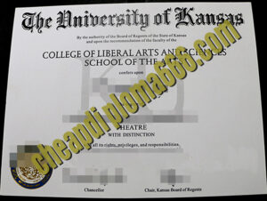 University of Kansas degree certificate