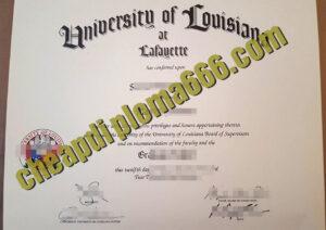 buy University of Louisiana at Lafayette degree certificate