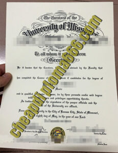 fake University of Missouri diploma