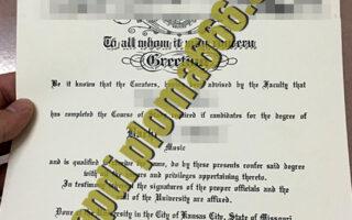 fake University of Missouri diploma