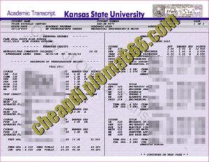 University of Kansas transcript