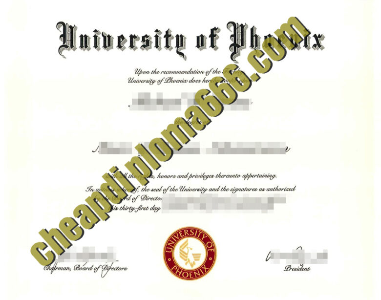 buy University of Phoenix degree certificate