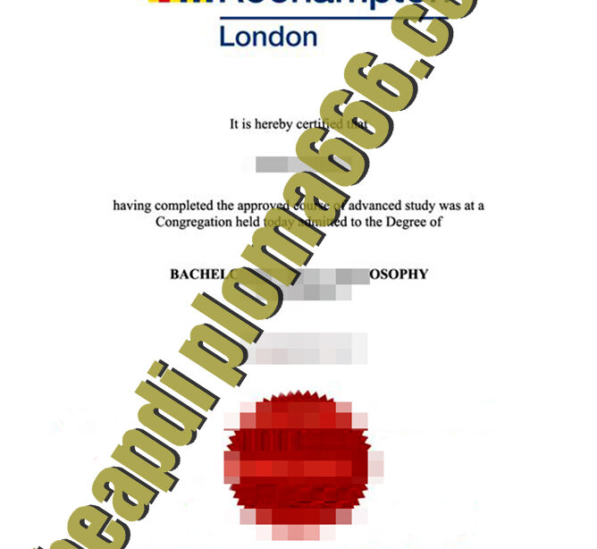 University of Roehampton degree certificate