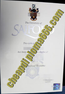 University of Salford degree certificate