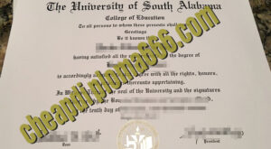 buy University of South Alabama degree certificate
