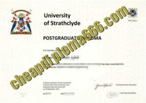 University of Strathclyde degree certificate