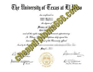 buy University of Texas at El Paso degree certificate