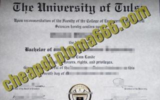 buy University of Tulsa degree certificate