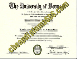 buy University of Vermont degree certificate