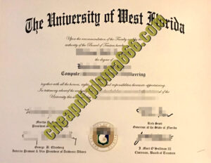 University of West Florida degree certificate