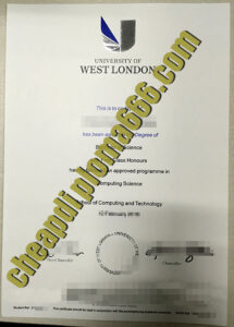 buy University of West London degree certificate