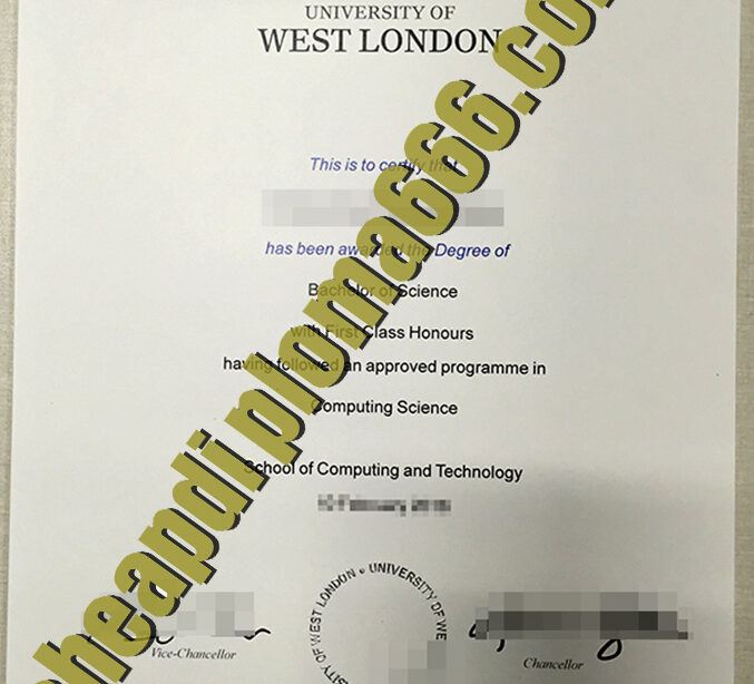 buy University of West London degree certificate