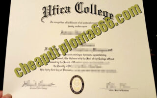 Utica College fake degree certificate